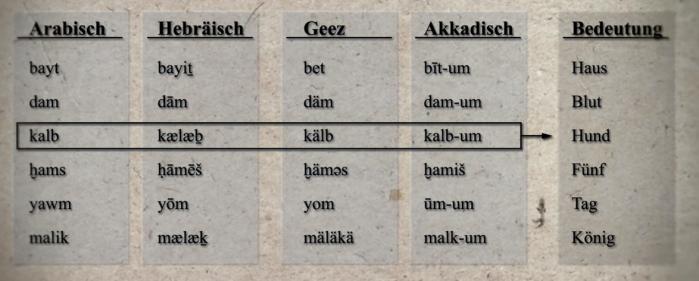 semitische sprachen